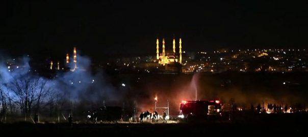 ترکی ، سرحد ، یونانی سکیورٹی فورسز ، تارکین وطن ، آنسو گیس ، شیلنگ ، ایتھنز، 92 نیوز