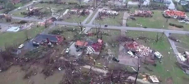 امریکا ، شدید طوفان ، تباہی ، ریاست ٹینیسی ، 25 افراد ، ہلاک