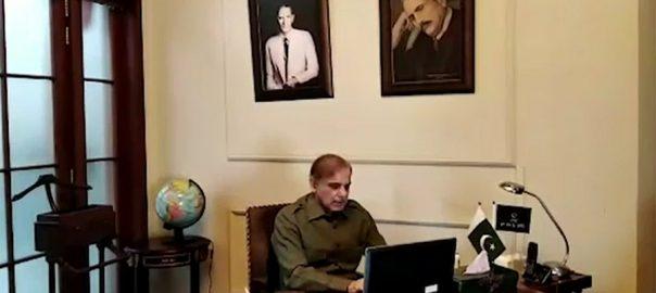 مشکل صورتحال ، کاروباری برادری ، مدد ، رہنمائی ، شہبازشریف ، ویڈیو لنک اجلاس ، خطاب ، لاہور ، 92 نیوز