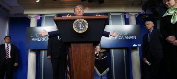 امریکی صدر ، ملکی معیشت ، 3 مرحلوں ، کھولنے ، تجویز