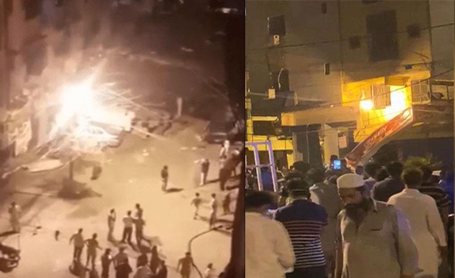 کراچی کے علاقے ڈیفنس فیز ٹو میں بیکری میں سلنڈر دھماکا، دو افراد زخمی
