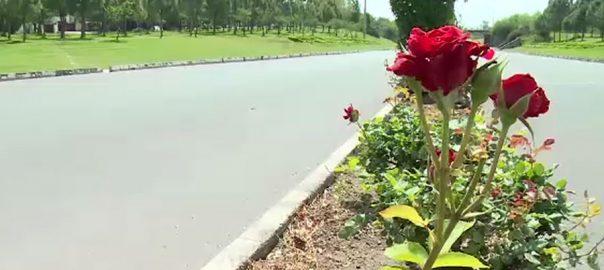 اسلام آباد ، بہار ، رنگینی ، سحر انگیز ، نظارہ ، گھروں ، محدود