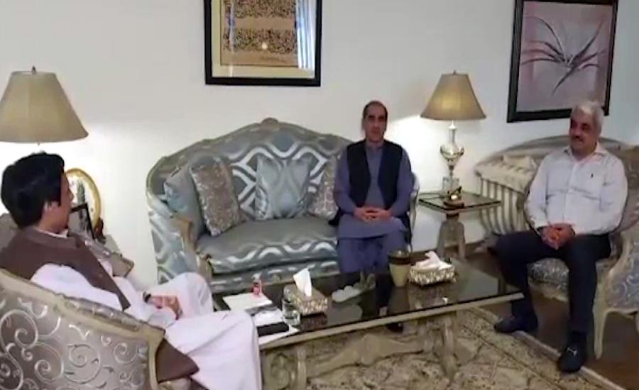 خواجہ برادران کی اسپیکر پنجاب اسمبلی سے ملاقات، کورونا پر جماعتوں کو اکٹھا کرنے پر مبارکباد