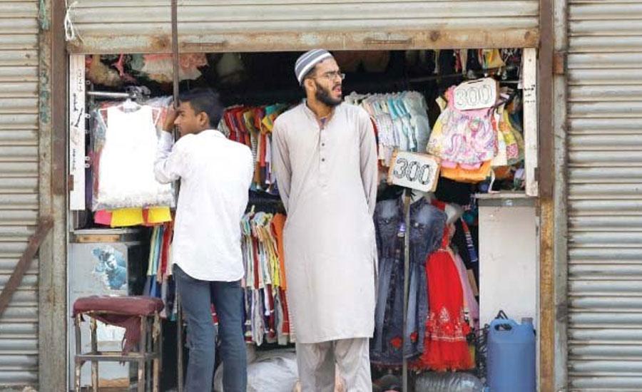 کراچی کی متعدد مارکیٹوں میں تاجروں نے اجازت نامہ حاصل کرنے کے بعد کاروبار شروع کر دیا