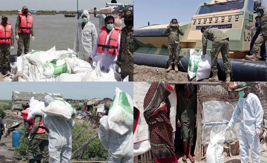 پاک بحریہ کی ہزاروں خاندانوں میں ضروریاتِ زندگی، اداروں کو حفاظتی سامان کی ترسیل