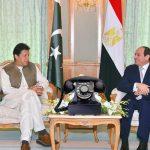 وزیر اعظم سے مصری صدر کا ٹیلیفونک رابطہ ، کورونا سمیت دیگر امور پر تبادلہ خیال