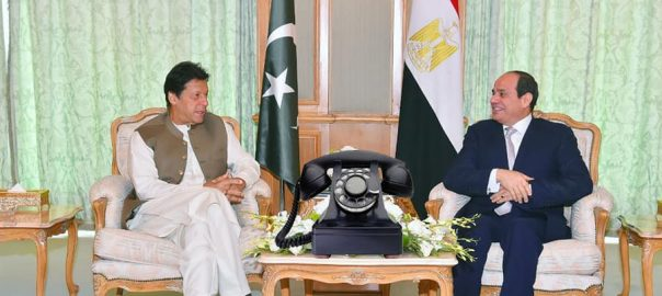 pm imran khan with abdul fateh alsesi
