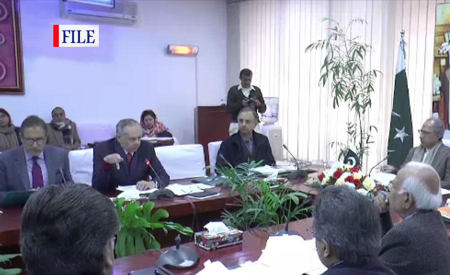 مشیر خزانہ حفیظ شیخ کی زیر صدارت ای سی سی کا اجلاس آج ہو گا
