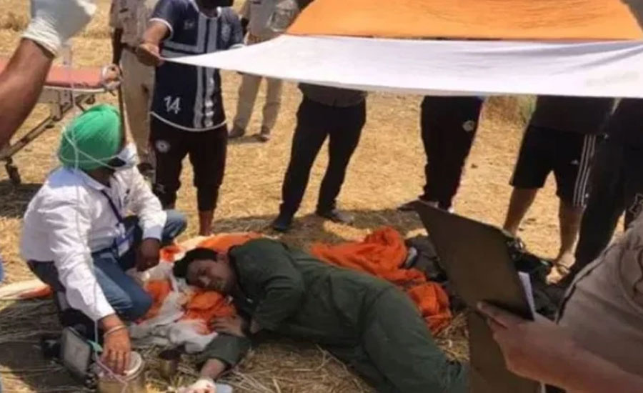 بھارتی فضائیہ کا مگ 29 طیارہ  بھارتی پنجاب کے علاقے ہوشیارپور میں گر کر تباہ