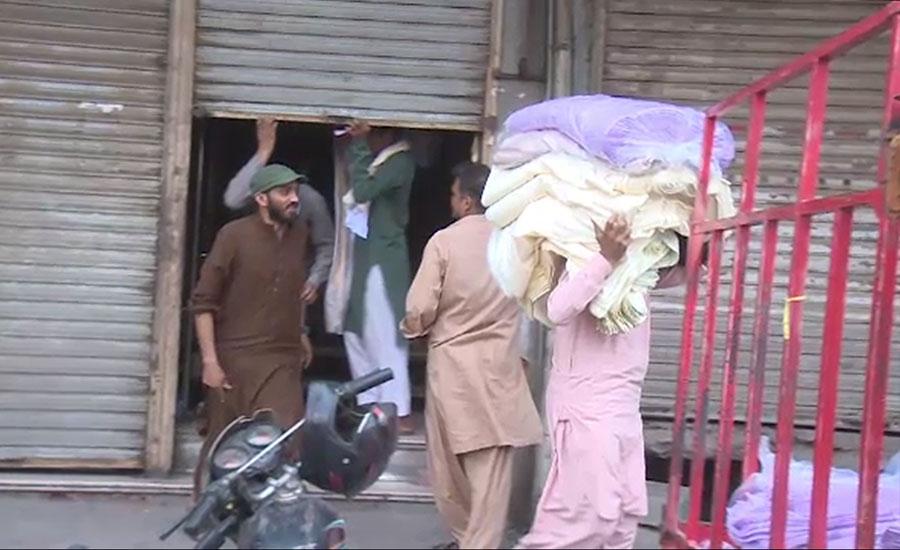 کورونا وائرس کے باعث فیصل آباد میں تاجروں کا چوری چھپے کاروبار کا سلسلہ جاری