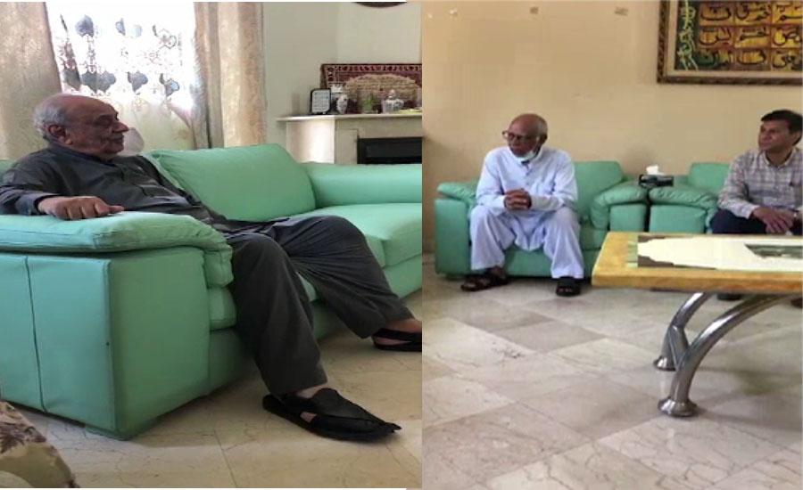 وزیر داخلہ اعجاز شاہ کی پی آئی اے طیارہ حادثے میں جاں بحق پائلٹ سجاد گل کے گھر آمد