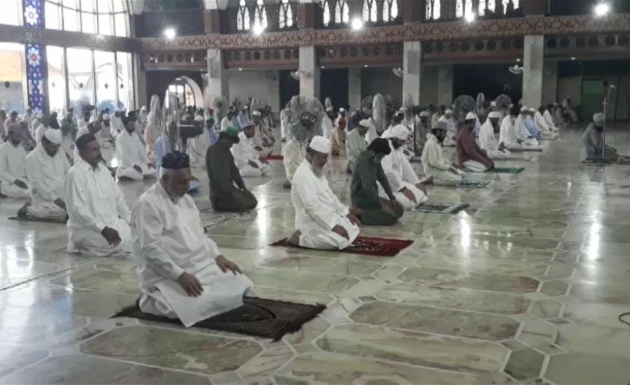ملک بھر کی مساجد میں جمعتہ الوداع کی ایس اوپیز کے تحت ادائیگی
