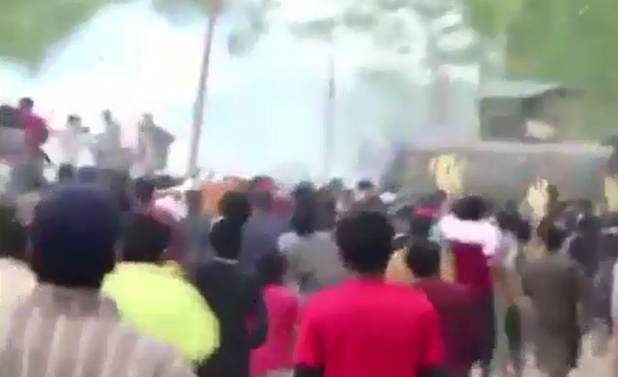 حریت پسندوں کی شہادت کیخلاف احتجاج، بھارتی فورسز کی فائرنگ سے کشمیری نوجوان شہید