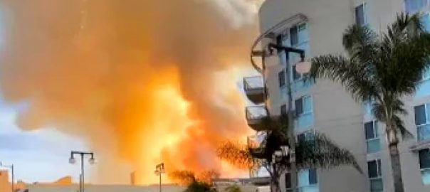 امریکی ، شہر ، لاس اینجلس ، نشیبی علاقے ، بھڑکنے ، آگ ، زد ، گیارہ ، فائر فائٹرز ، جھلس