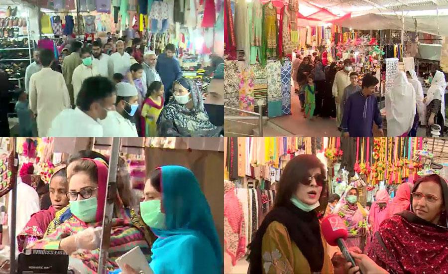 لاک ڈاؤن میں نرمی، بازاروں اور مارکیٹوں میں عید شاپنگ کیلئے رش