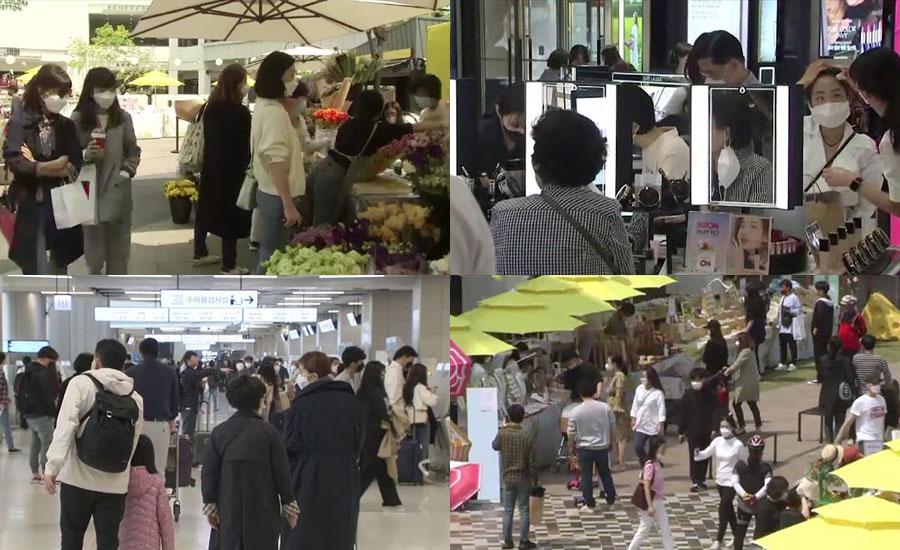 جنوبی کوریا میں پابندیوں میں نرمی کے بعد ریونج شاپنگ پورے زور و شور سے جاری