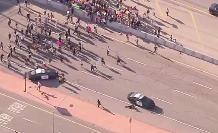سیاہ فام شہری کی ہلاکت پر امریکا میں مظاہرے شدت اختیار کر گئے