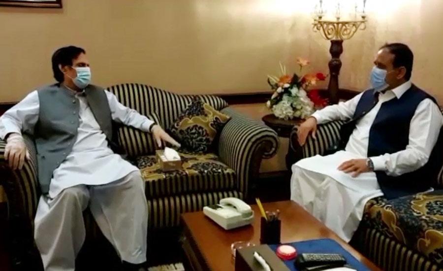 وزیر اعلیٰ بزدار اور چودھری پرویز الہٰی کی ملاقات، سیاسی امور پر تبادلہ خیال