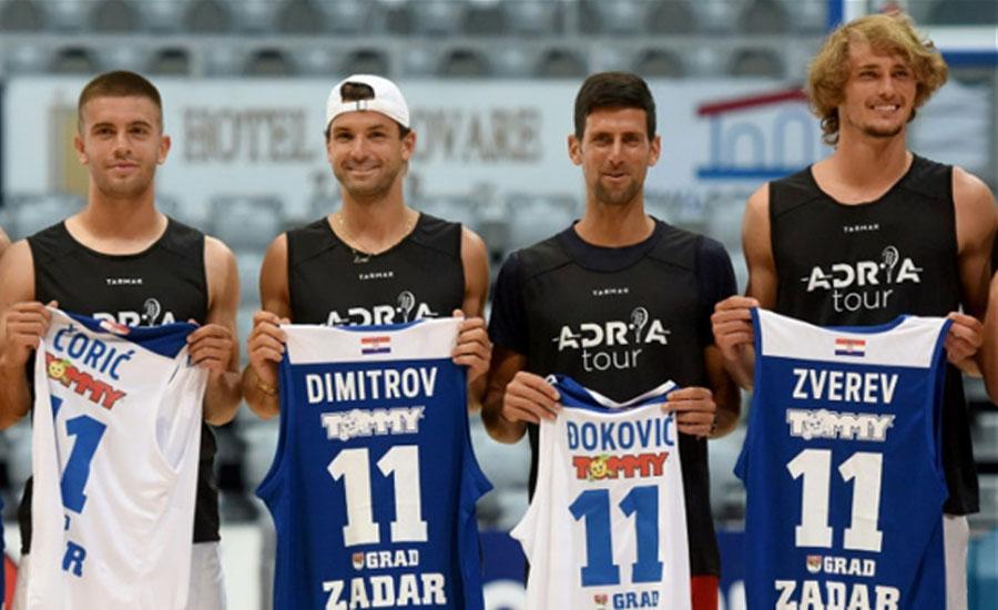 ایڈریا ٹور ٹورنامنٹ، جوکووچ سمیت 4 ٹاپ کھلاڑیوں کا کورونا ٹیسٹ مثبت آگیا