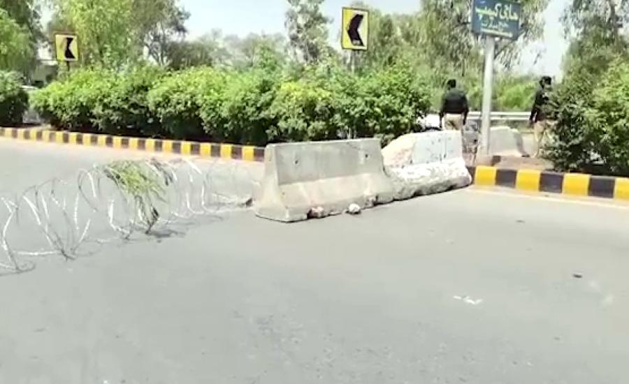 پشاور میں حیات آباد  فیز 6 کو مکمل طور پر سیل کر دیاگیا
