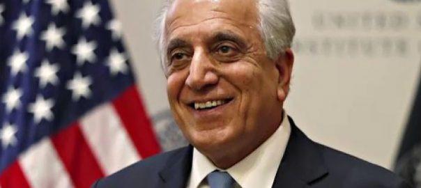 امریکی ، نمائندہ خصوصی ، زلمے خلیل زاد ، قطر ، پہنچ