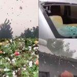 چین کے شہر باؤڈنگ میں ژالہ باری، درجنوں گاڑیاں اور ہزاروں ایکڑ پر کھڑی فصل کو نقصان