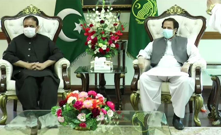 وزیراعلیٰ پنجاب سے چودھری پرویز الہٰی کی ملاقات ، فلاح عامہ کے پروگرام پر تبادلہ خیال