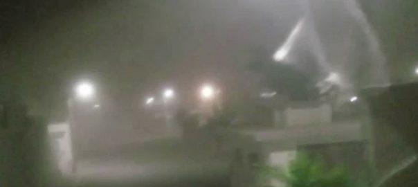 کراچی ، طوفانی ہواؤں ، تہس نہس ، رکھ