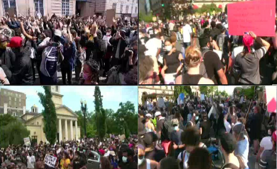 سیاہ فام جارج فلائیڈ کی پولیس کے ہاتھوں قتل کیخلاف مظاہرے تحریک میں تبدیل