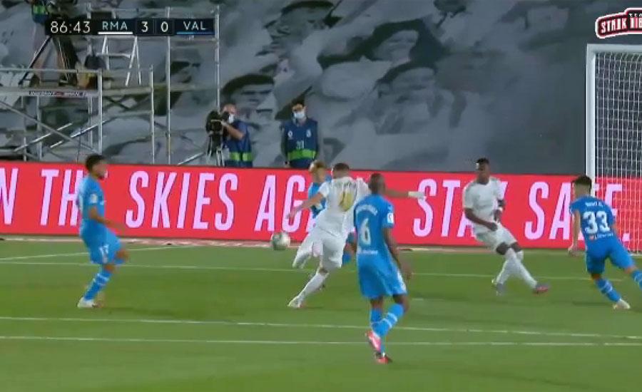 اسپینش فٹبال لیگ ، رالا میڈرڈ نے ویلنسیا کو تین صفر سے شکست دے دی