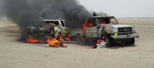 پاک ایران سرحد ، اسمگلروں ، اے این ایف ، حملہ ، 2 اہلکار شہید ، 5 زخمی ، چاغی ، 92 نیوز