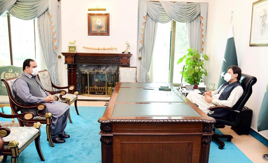 وزیر اعظم سے سردار عثمان بزدار کی ملاقات ، صوبے کے امور پر بات چیت