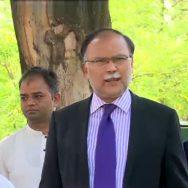 لیگی رہنمائوں ، نیب ہیڈکوارٹرزآمد ، وزیراعظم کیخلاف درخواست ، اسلام آباد ، 92 نیوز