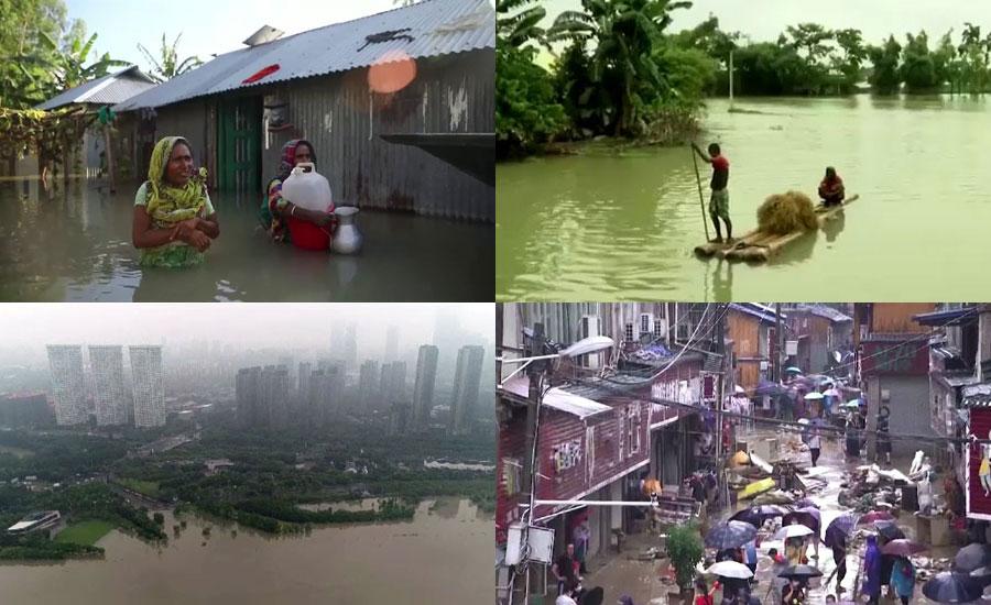 بنگلہ دیش، بھارت، چین اور نیپال میں مون سون کی طوفانی بارشوں نے تباہی مچادی