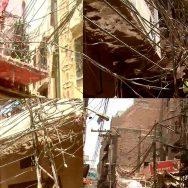 اندرون لاہور ، بھاٹی گیٹ ، بجلی کی لٹکتی بوسیدہ تاریں ، عوام کیلئے خطرہ ، لاہور ، 92 نیوز