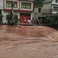 چین ، صوبے ، جیائنگ زی ، طوفانی بارشوں ، سیلاب ، تباہی