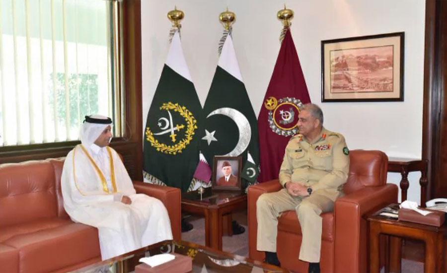 آرمی چیف کی قطری سفیر کو ذمہ داریاں سنبھالنے پر مبارکباد