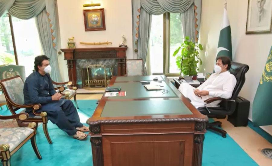 وزیراعظم سے عثمان ڈار کی ملاقات، ٹائیگر فورس ڈے منانے کی تیاریوں پر مشاورت