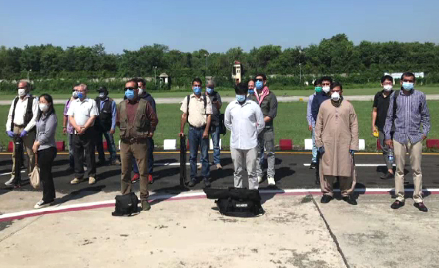 غیرملکی میڈیا کے وفد کا آج پھر کنٹرول لائن پر چری کوٹ سیکٹر کا دورہ
