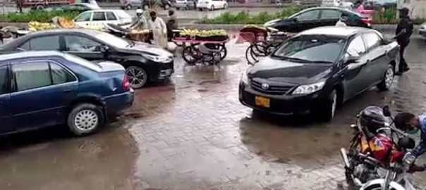 لاہور ، علاقوں ، موسلادھار بارش ، گرمی ، شدت