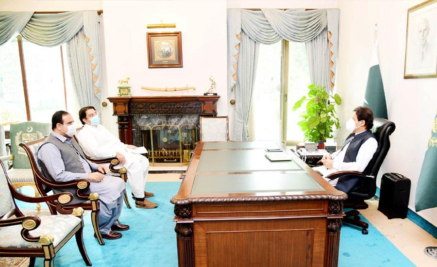 وزیراعظم اورچیئرمین سینٹ سے وزیراعلیٰ پنجاب کی ملاقات، اہم امور پر تبادلہ خیال