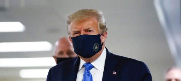 ماسک ، مسلسل مخالفت ، ٹرمپ کا بڑا یوٹرن ، چہرہ ڈھانپے تصویر شیئر ، واشنگٹن ، 92 نیوز