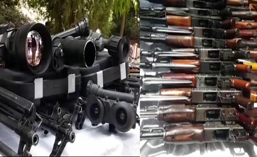 کوہاٹ میں پولیس نے بڑی تعداد میں اسلحہ اسمگلنگ کی کوشش ناکام بنا دی