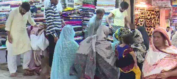 فیصل آباد کی مارکیٹوں میں کورونا ایس او پیز کی دھجیاں اڑا دی گئیں