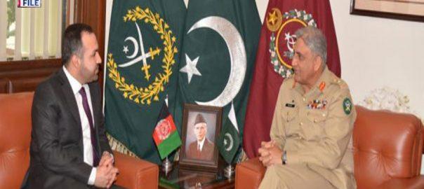 آرمی چیف ، افغان سفیر ، الوداعی ملاقات ، افغان امن عمل ، حمایت ، اظہار تشکر ، آئی ایس پی آر ، راولپنڈی ، 92 نیوز