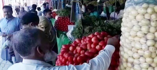 اتوار بازار ، سبزیوں ، قیمتوں ، اضافہ ، دکاندار ، من مانی