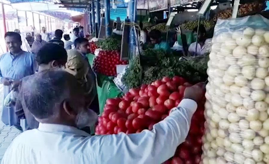اتوار بازار میں سبزیوں کی قیمتوں میں اضافہ ، دکاندار من مانی کرنے لگے