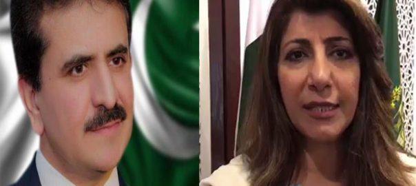 وزارت خارجہ ، عائشہ فاروقی ، زاہد حفیظ چودھری ، ترجمان ، مقرر