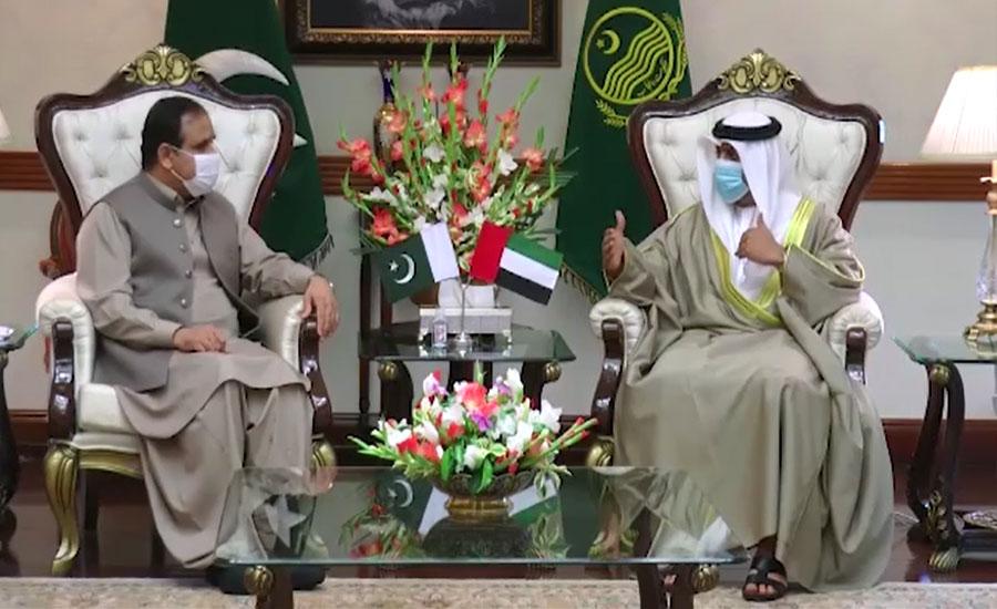 وزیراعلیٰ بزدار سے یو اے ای کے سفیر کی ملاقات، دو طرفہ تعلقات کے فروغ پر تبادلہ خیال