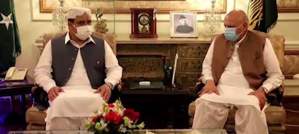 وزیراعلیٰ بزدار، گورنر چودھری سرور ، ملاقات ، ایک دوسرے ، عیدالاضحیٰ ، مبارکباد ، لاہور ، 92 نیوز